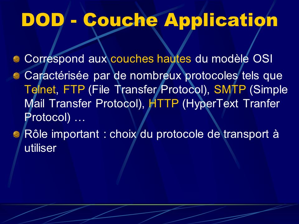 DOD - Couche Application