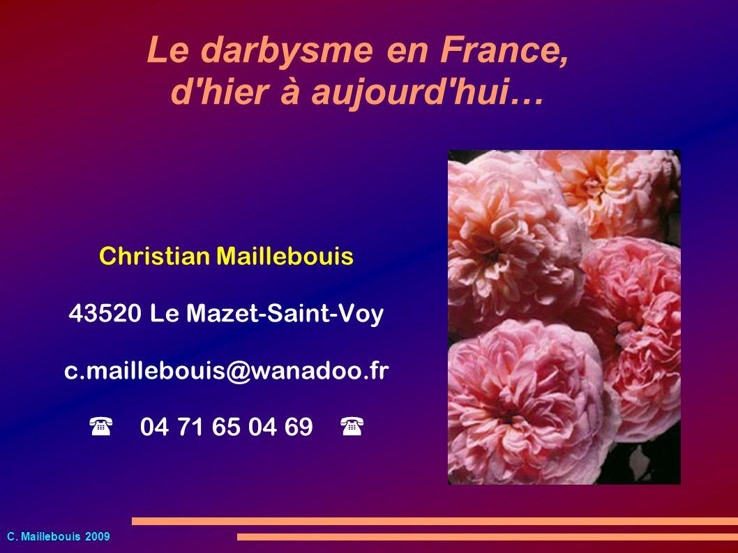 Le darbysme en France, d hier à aujourd hui…