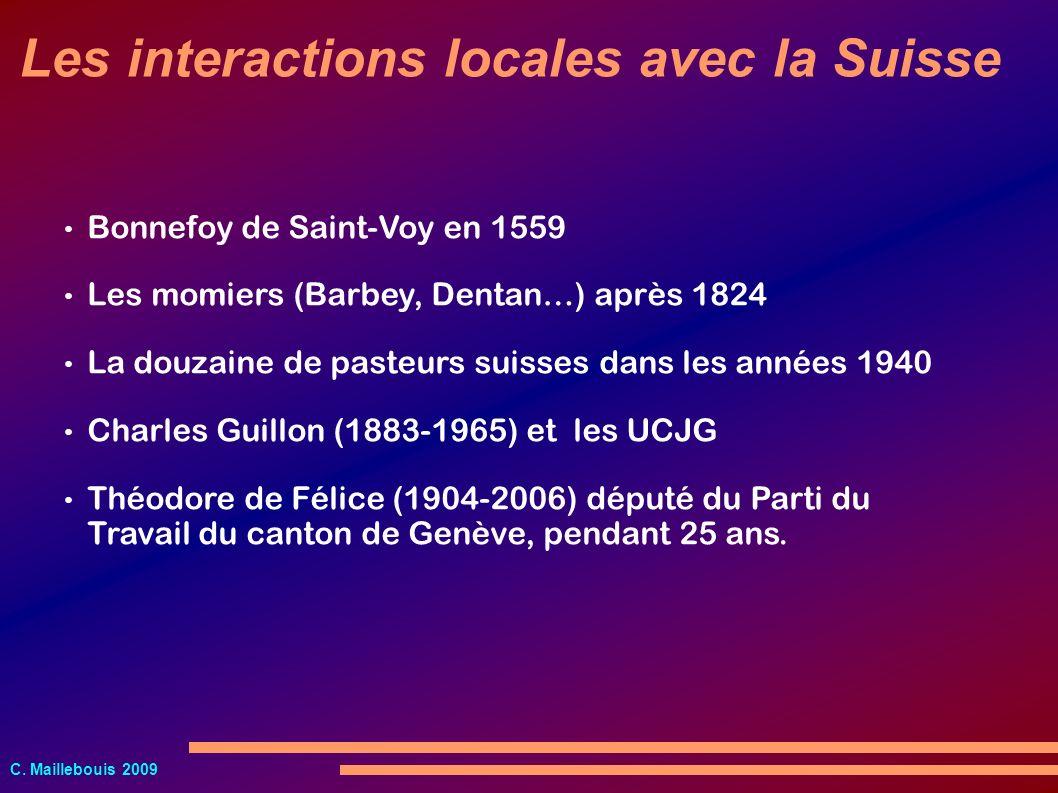 Les interactions locales avec la Suisse