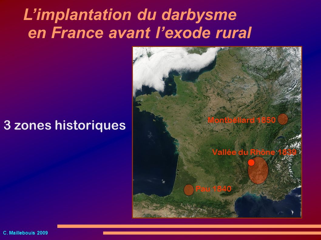 L'implantation du darbysme en France avant l'exode rural