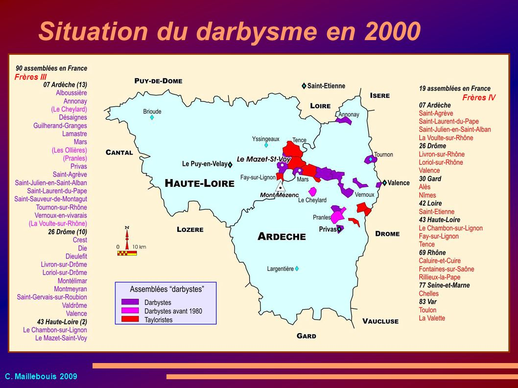 Situation du darbysme en 2000
