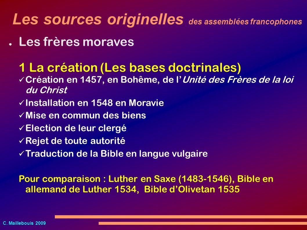 Les sources originelles des assemblées francophones