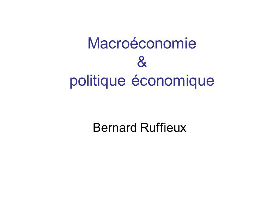 Macroéconomie & politique économique