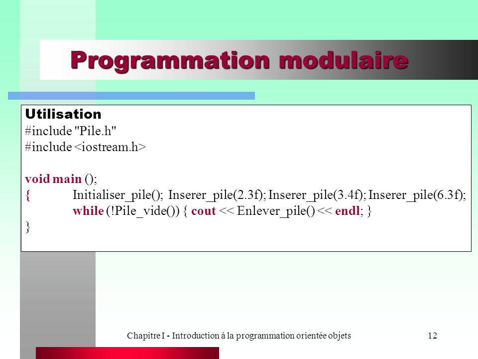 Programmation modulaire