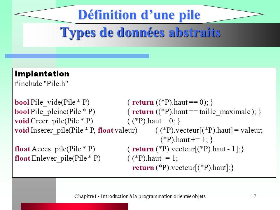 Types de données abstraits