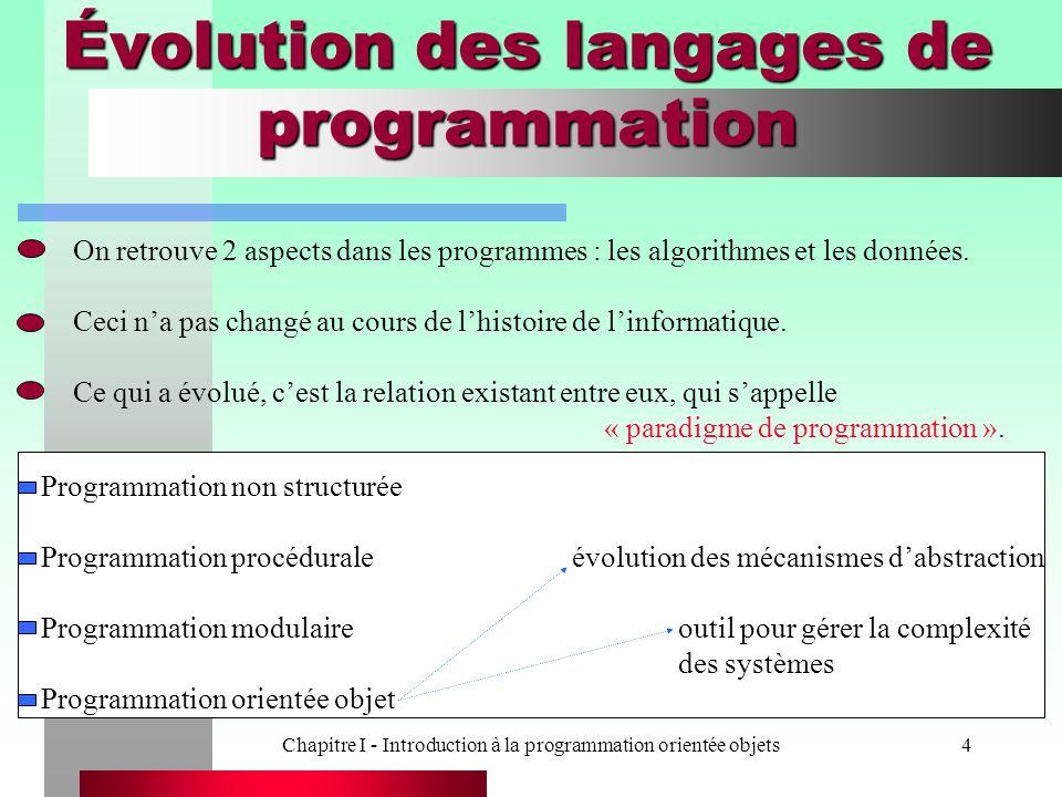 Évolution des langages de programmation