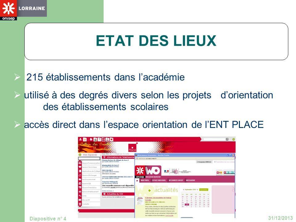 ETAT DES LIEUX 215 établissements dans l'académie