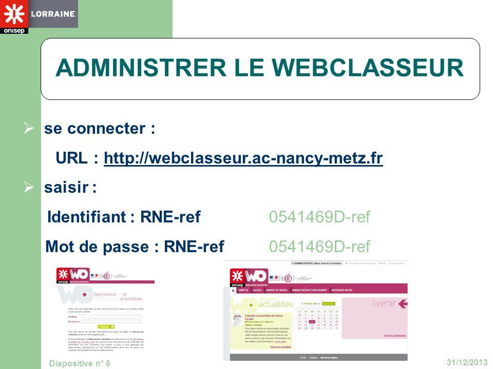 ADMINISTRER LE WEBCLASSEUR