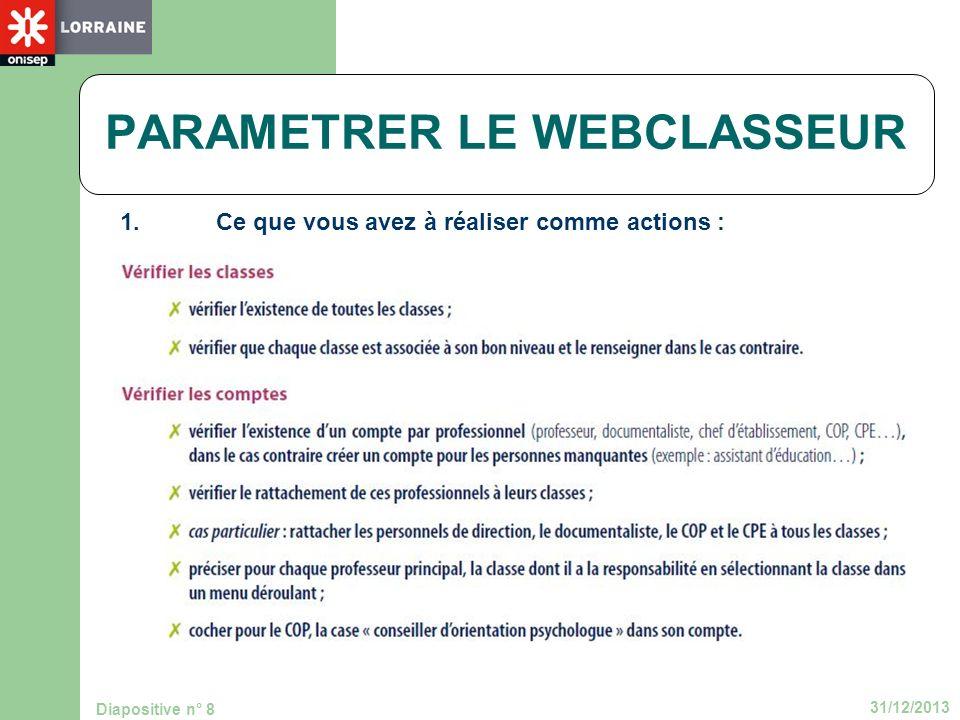PARAMETRER LE WEBCLASSEUR