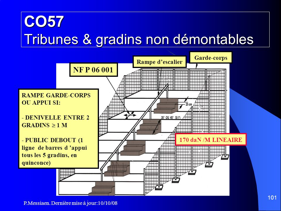 CO57 Tribunes & gradins non démontables