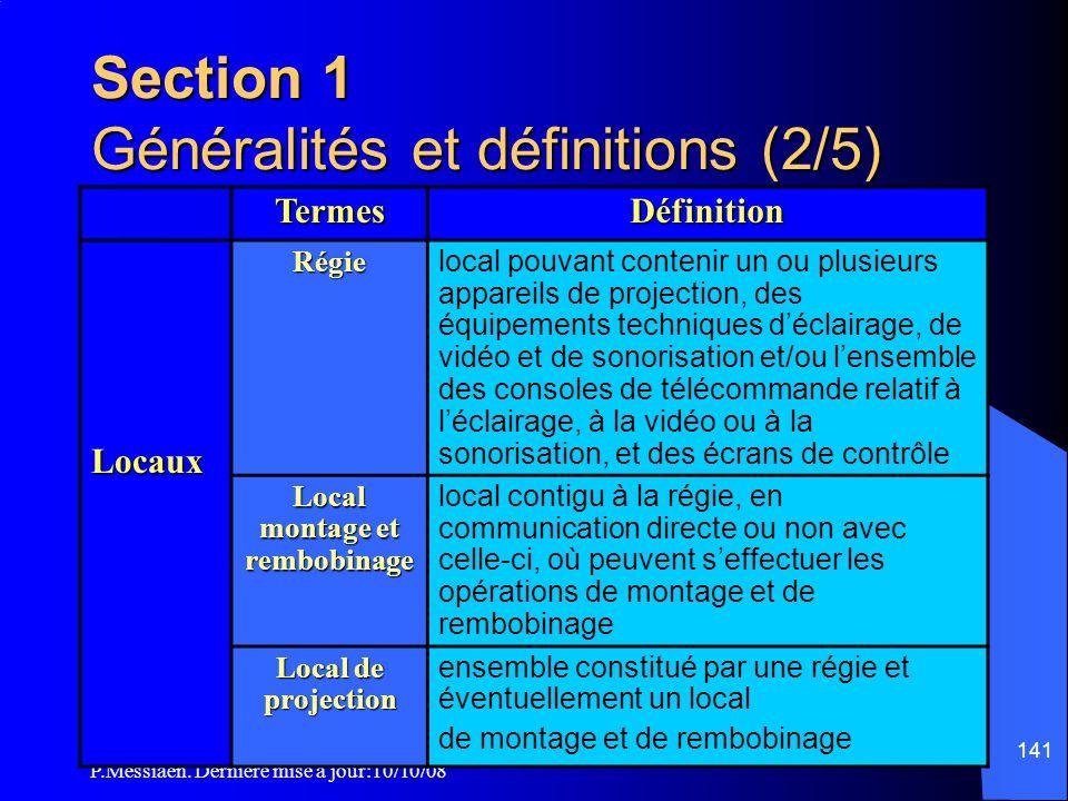 Section 1 Généralités et définitions (2/5)