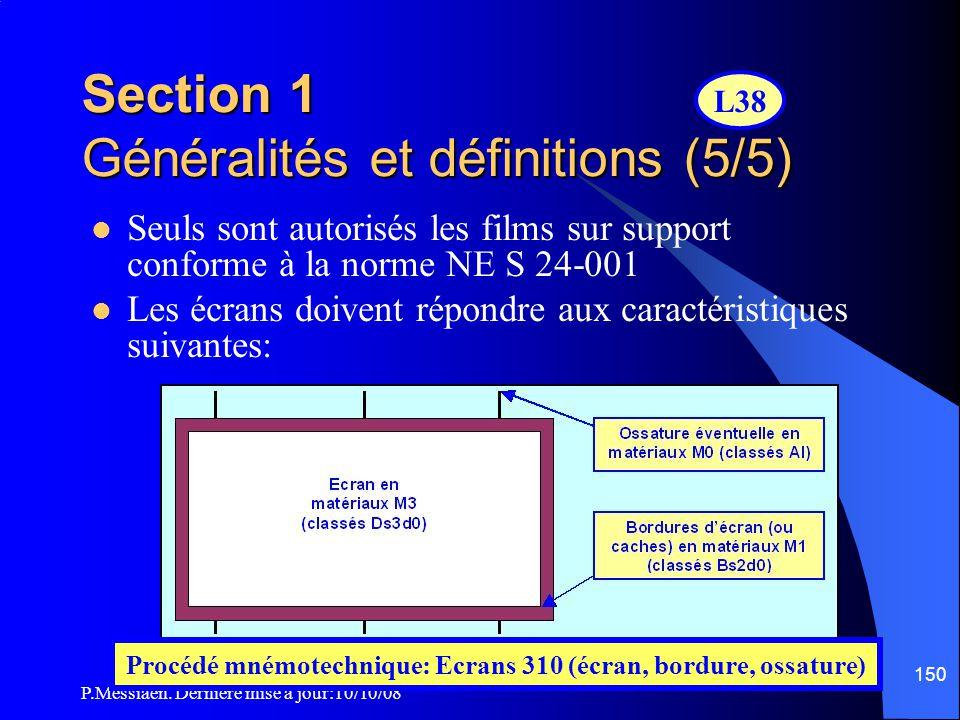 Section 1 Généralités et définitions (5/5)