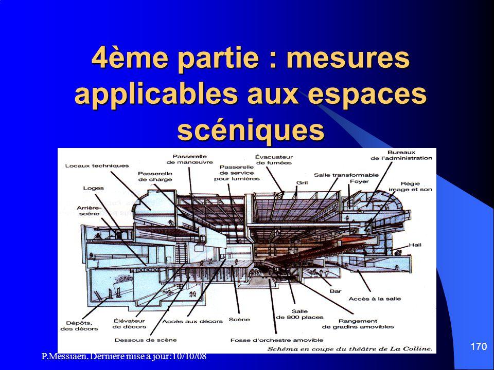 4ème partie : mesures applicables aux espaces scéniques