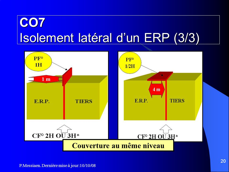 CO7 Isolement latéral d'un ERP (3/3)