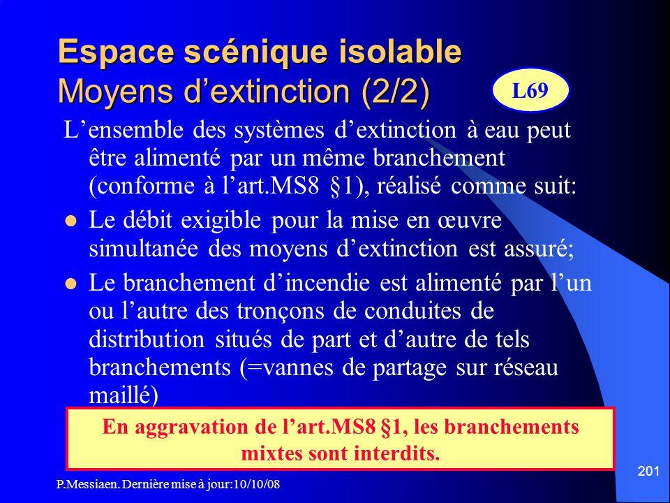 Espace scénique isolable Moyens d'extinction (2/2)