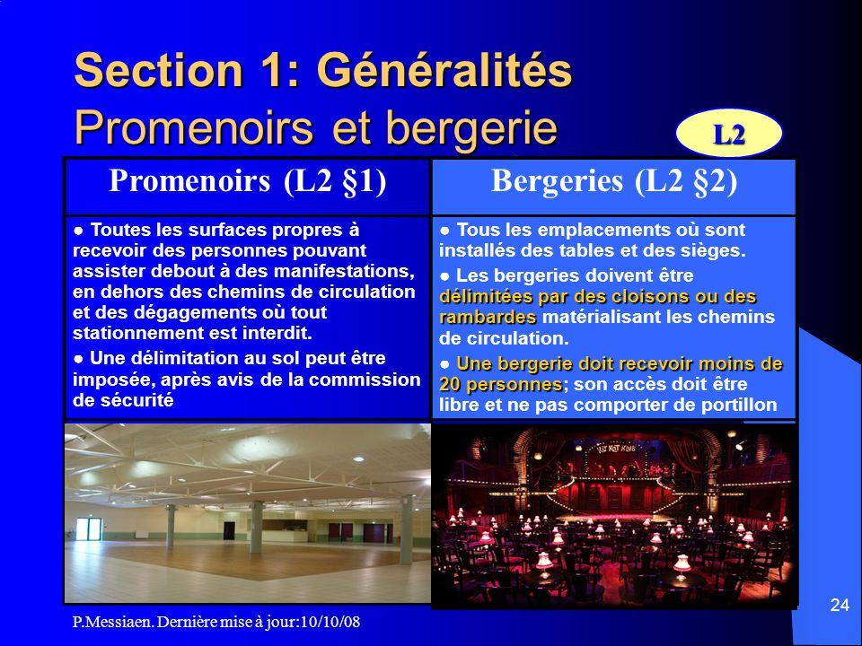 Section 1: Généralités Promenoirs et bergerie