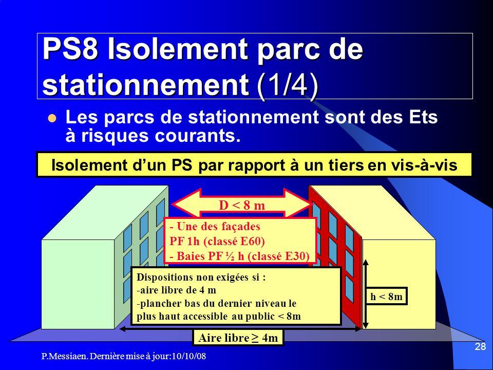 PS8 Isolement parc de stationnement (1/4)