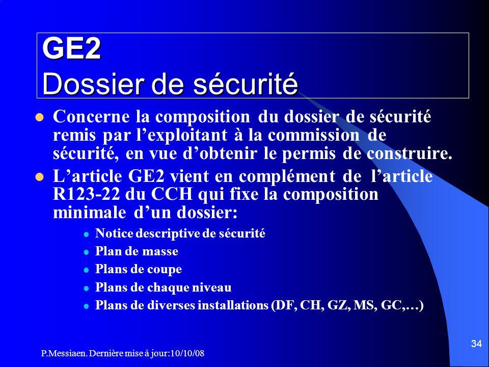 GE2 Dossier de sécurité