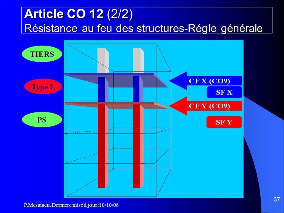 Article CO 12 (2/2) Résistance au feu des structures-Régle générale