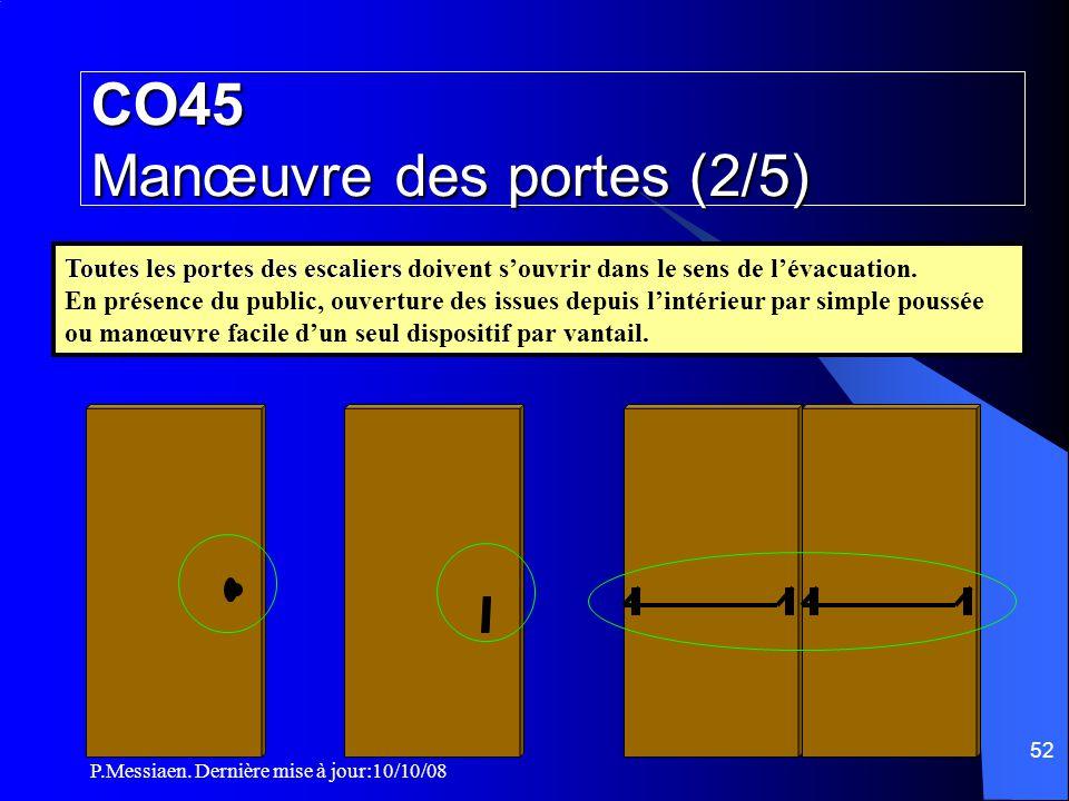 CO45 Manœuvre des portes (2/5)