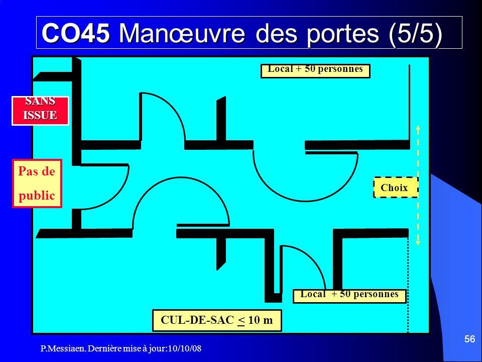 CO45 Manœuvre des portes (5/5)
