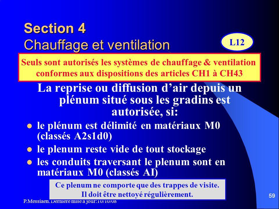 Section 4 Chauffage et ventilation