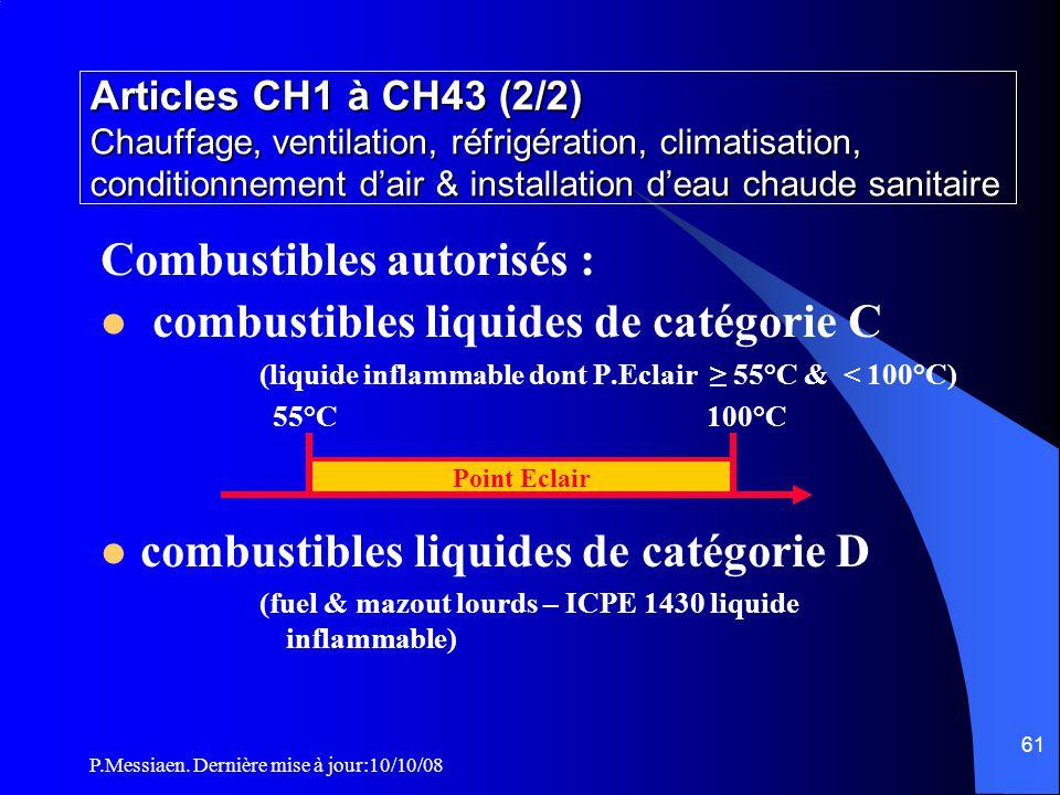 Combustibles autorisés : combustibles liquides de catégorie C