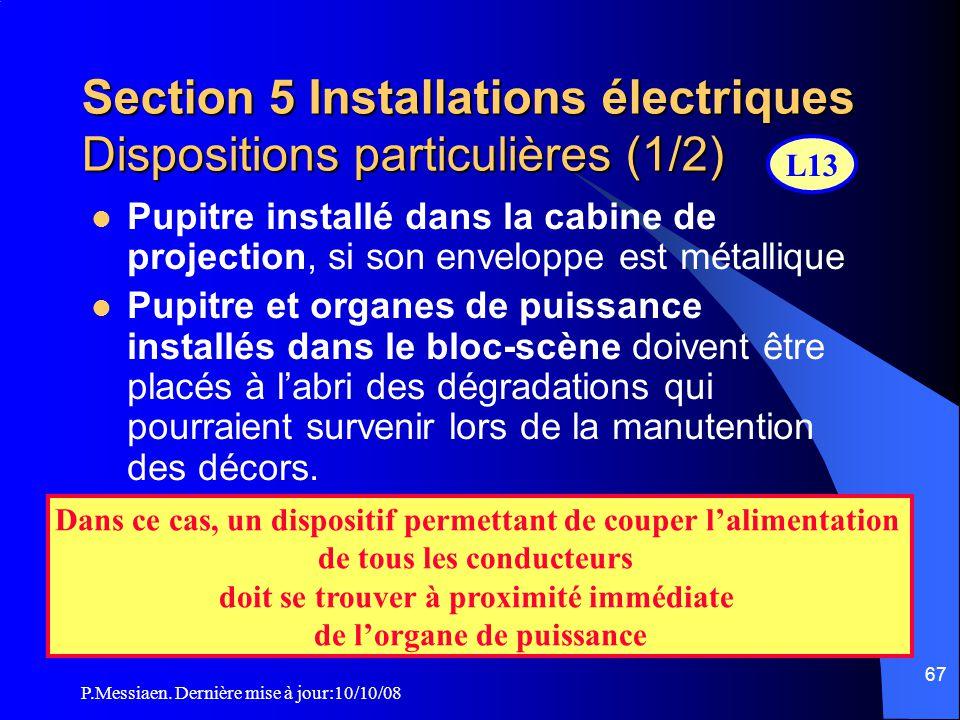 Section 5 Installations électriques Dispositions particulières (1/2)