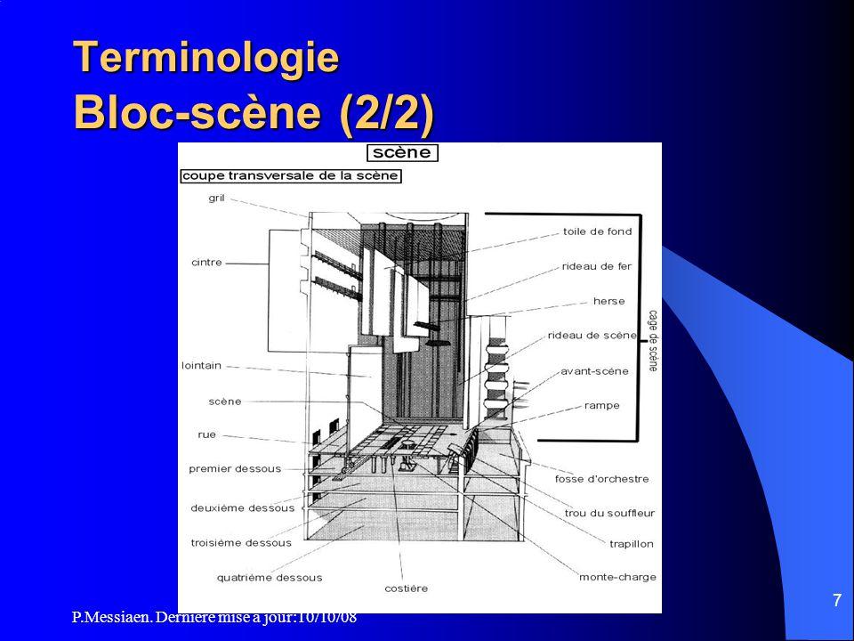 Terminologie Bloc-scène (2/2)