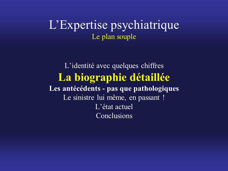 L'Expertise psychiatrique