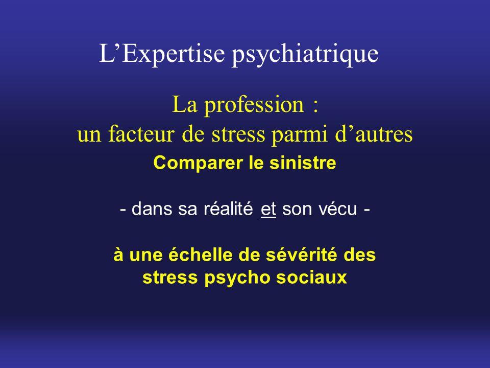 un facteur de stress parmi d'autres