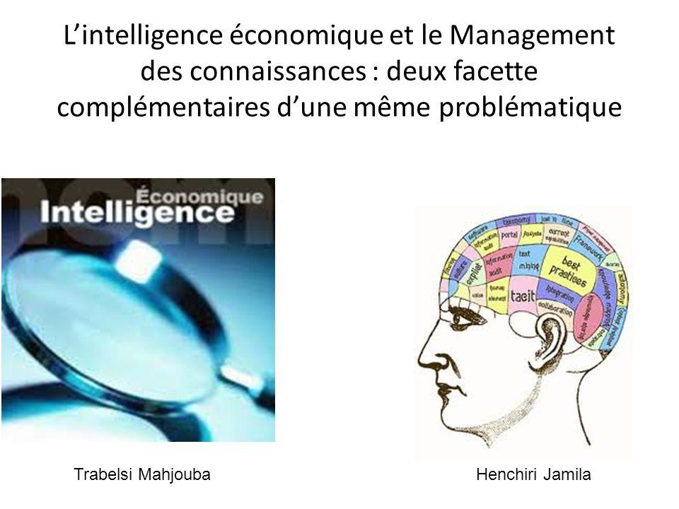 L'intelligence économique et le Management des connaissances : deux facette complémentaires d'une même problématique