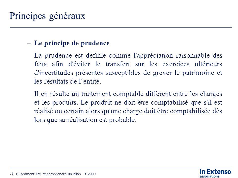 Principes généraux Le principe de prudence