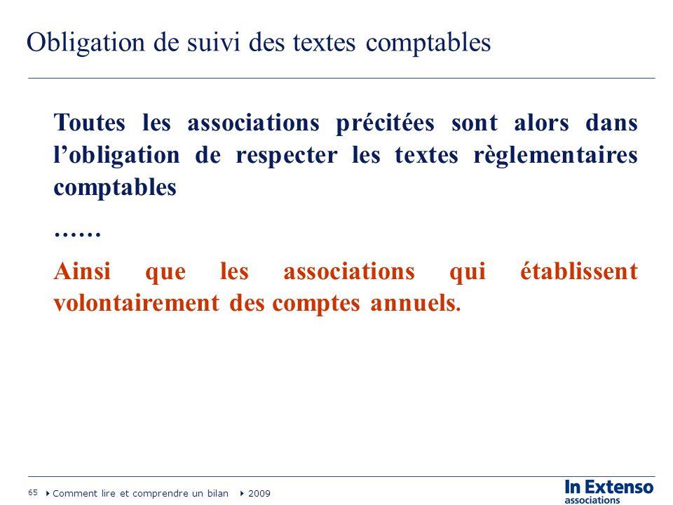 Obligation de suivi des textes comptables