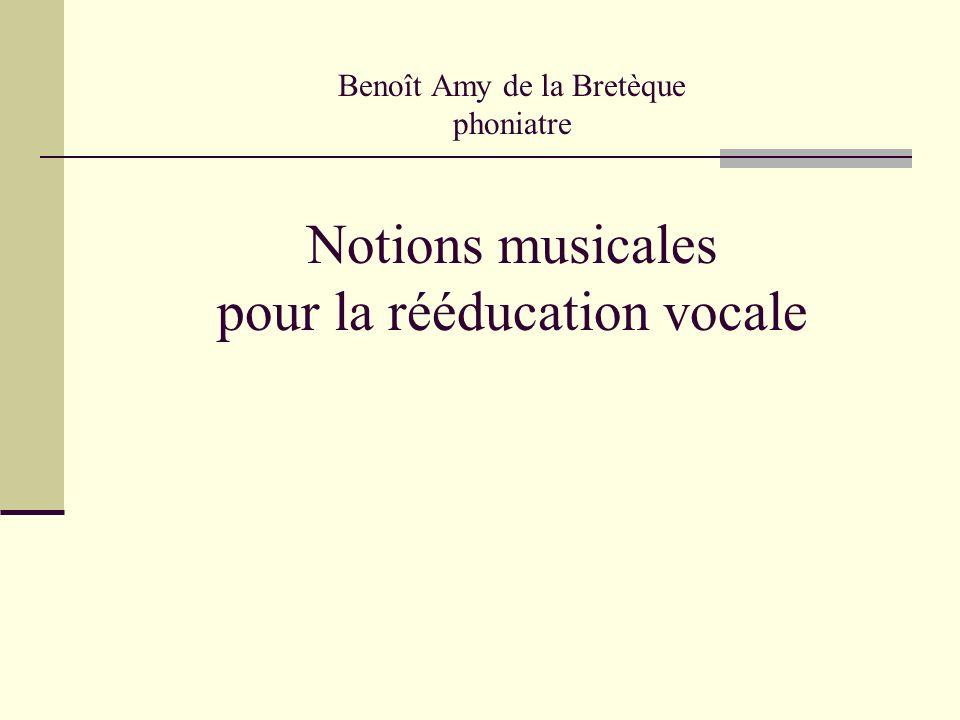 Benoît Amy de la Bretèque phoniatre Notions musicales pour la rééducation vocale
