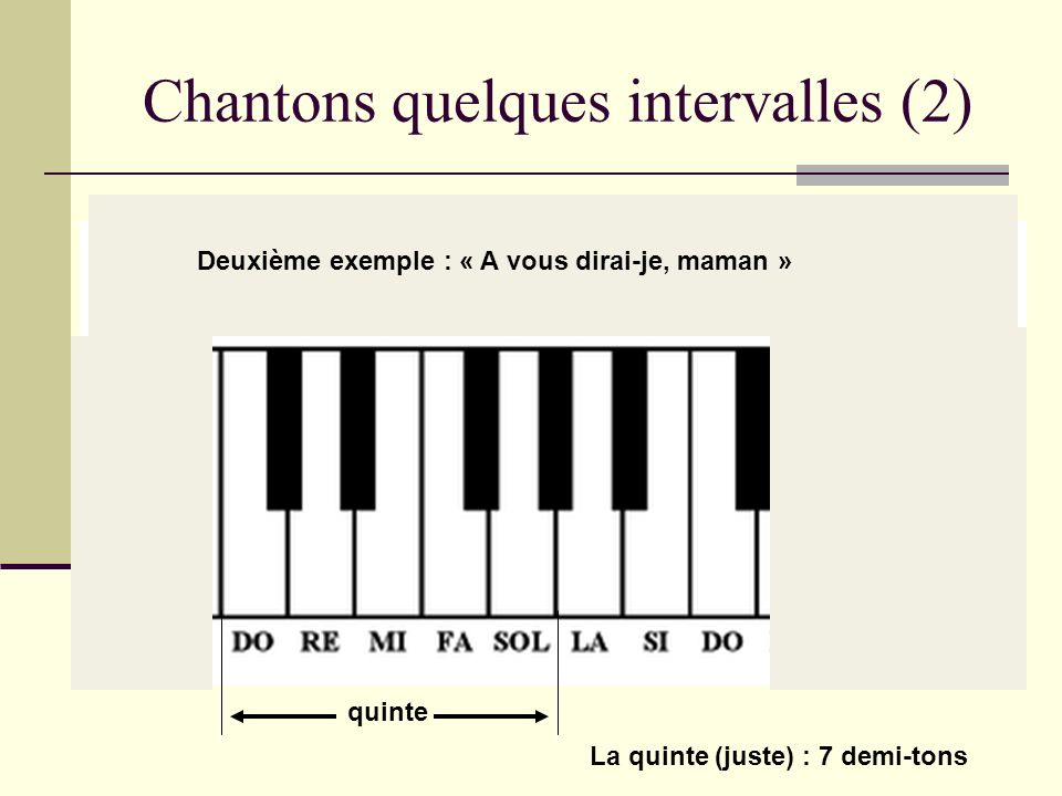 Chantons quelques intervalles (2)