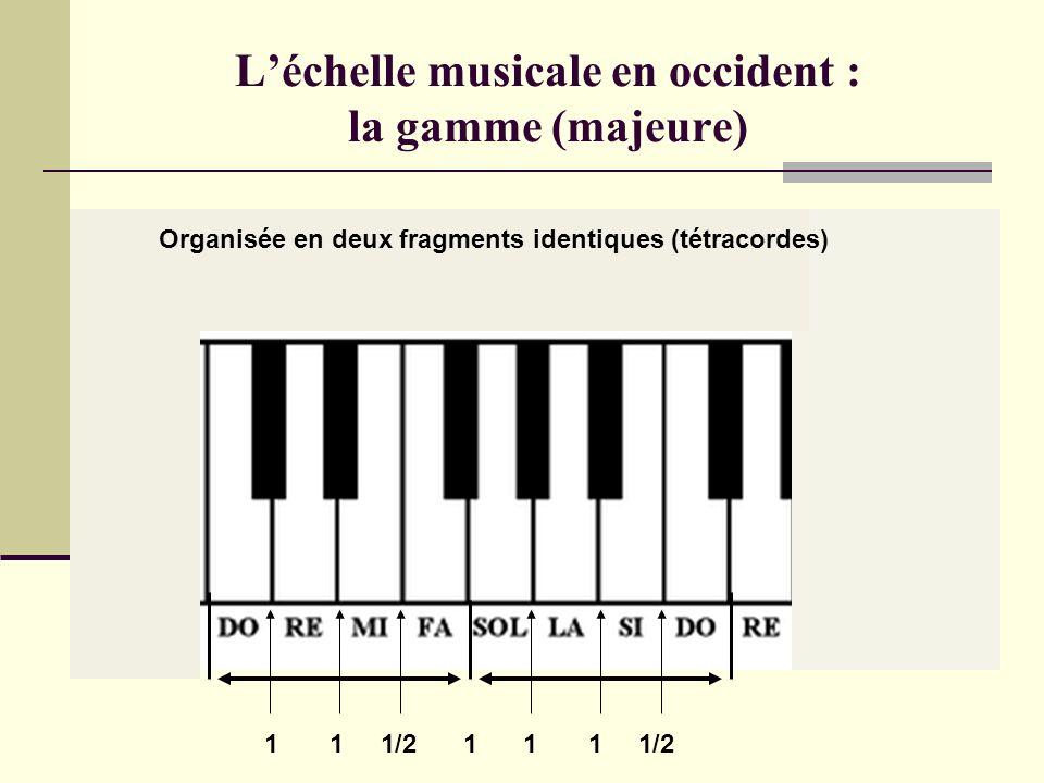 L'échelle musicale en occident : la gamme (majeure)