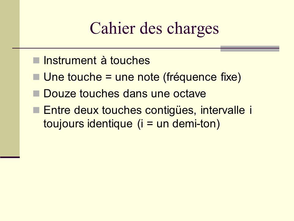 Cahier des charges Instrument à touches