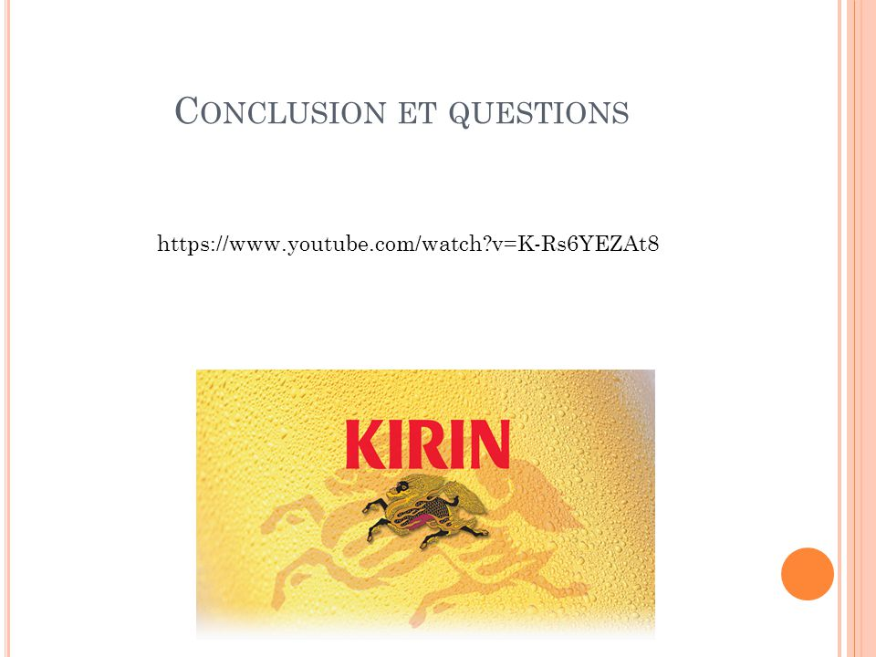 Conclusion et questions