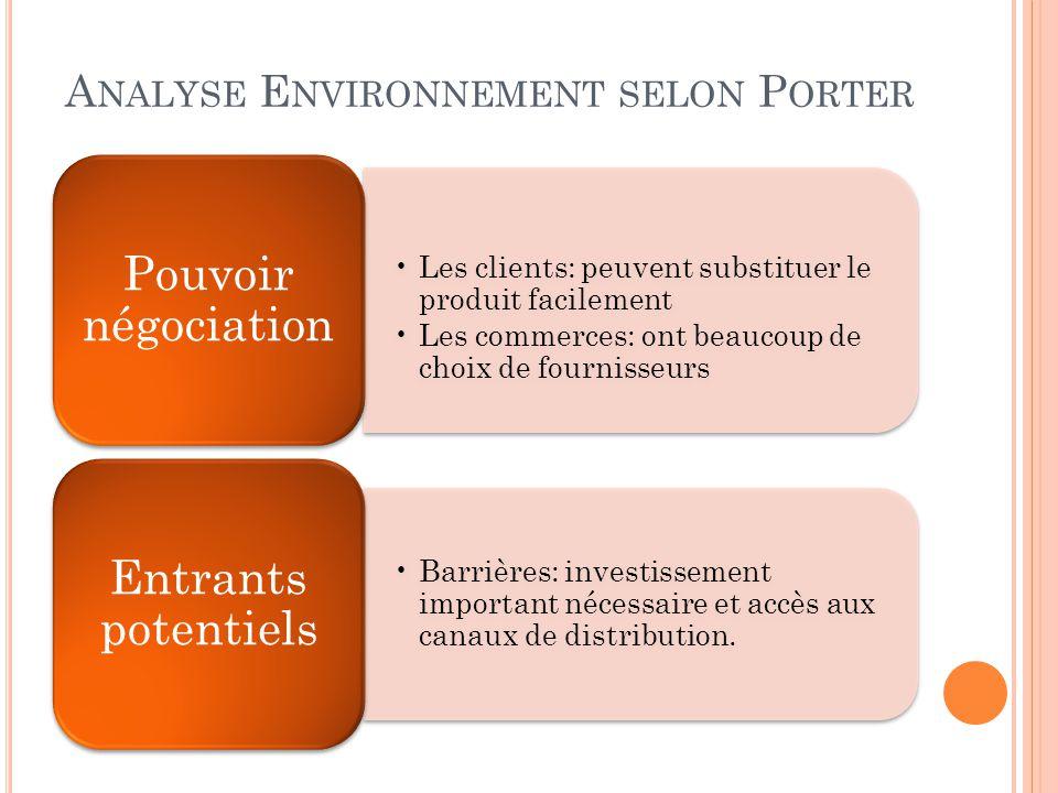Analyse Environnement selon Porter