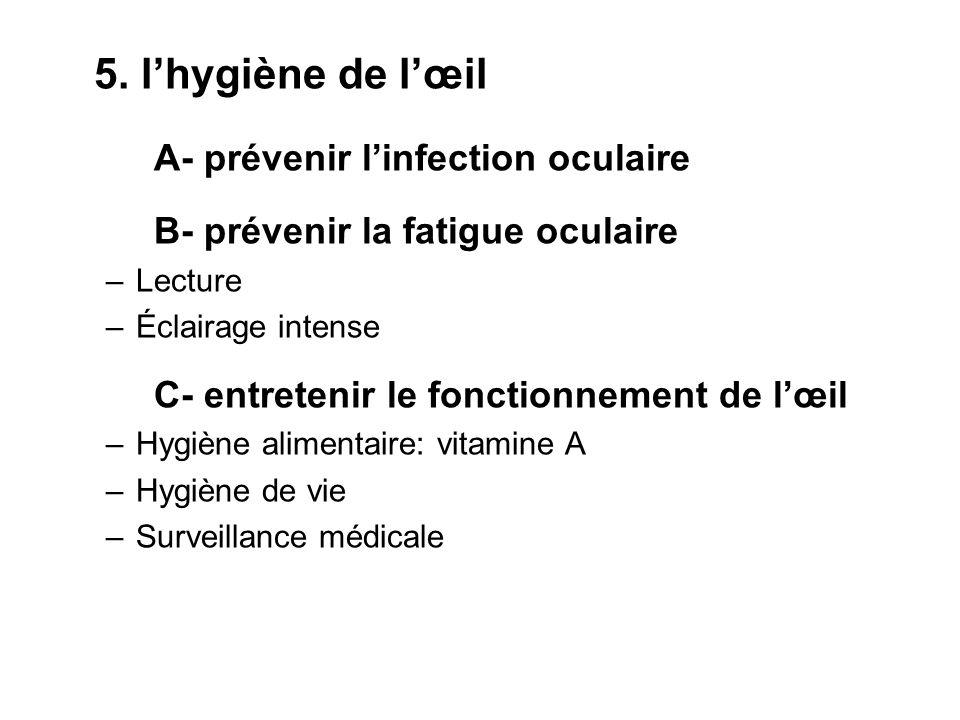 A- prévenir l'infection oculaire