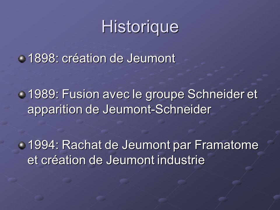 Historique 1898: création de Jeumont