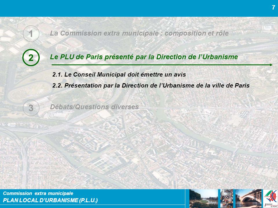 1 2 3 La Commission extra municipale : composition et rôle