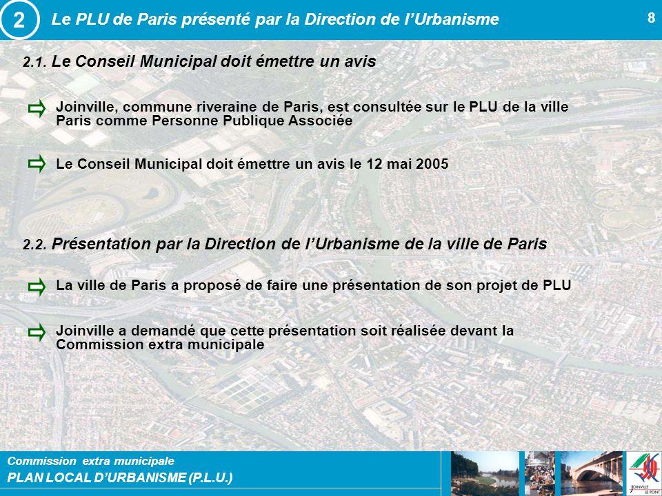 2 Le PLU de Paris présenté par la Direction de l'Urbanisme