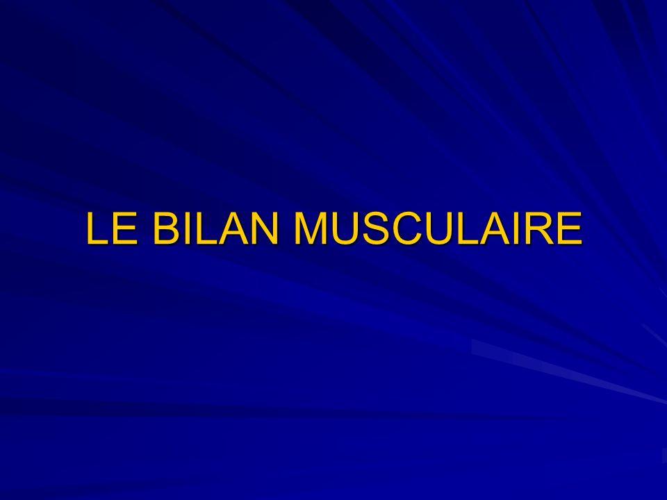 LE BILAN MUSCULAIRE