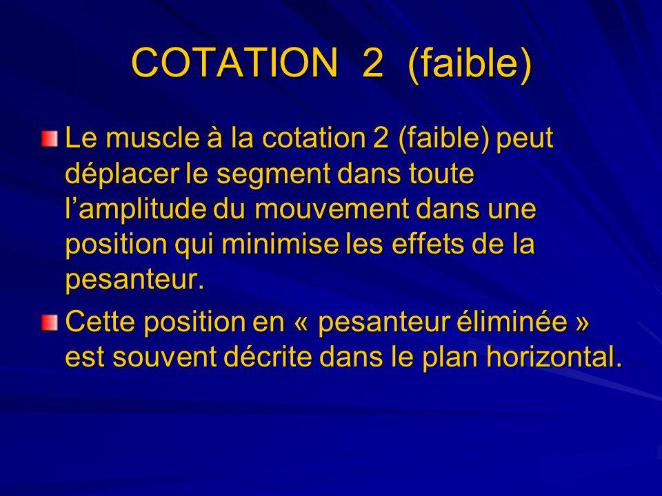 COTATION 2 (faible)