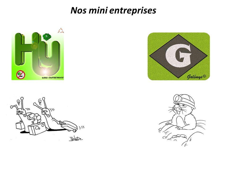 Nos mini entreprises