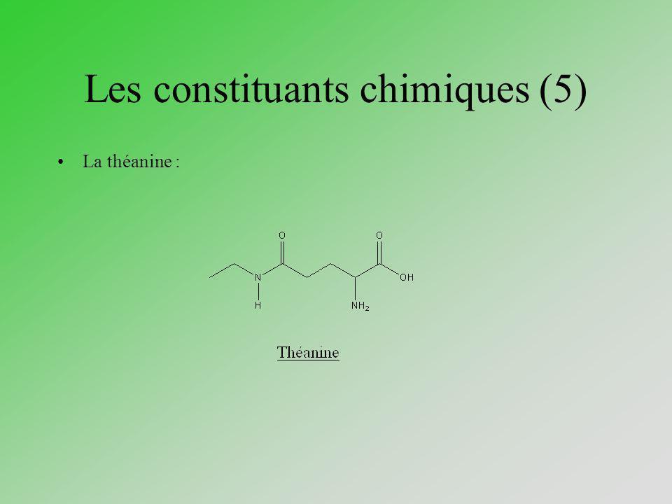 Les constituants chimiques (5)
