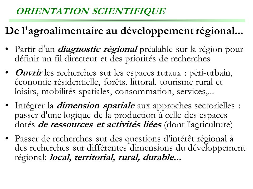 ORIENTATION SCIENTIFIQUE
