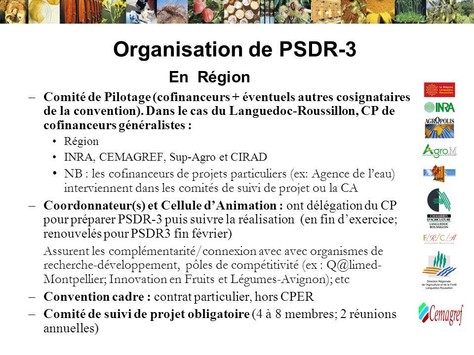 Organisation de PSDR-3 En Région
